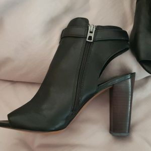 Coach size 8 booties. Black leather